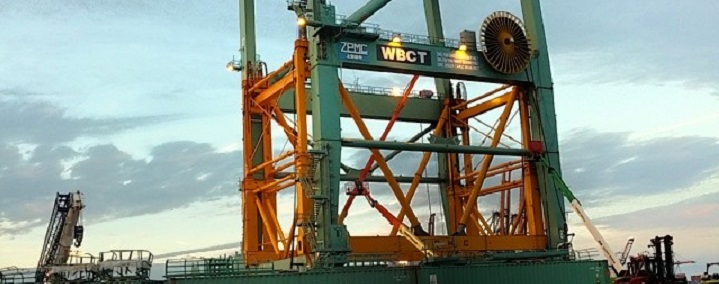 FIRST REMOTE CONTROL GANTRY CRANES ARRIVE AT FELIXSTOWE